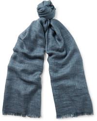 Bufanda de seda azul de Loro Piana