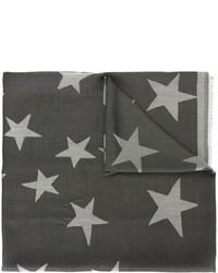 Bufanda de seda de estrellas en gris oscuro de Stella McCartney
