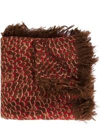 Bufanda de seda de leopardo en marrón oscuro de Chloé