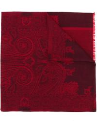 Bufanda de seda de paisley burdeos de Etro