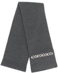 Bufanda de seda de punto en gris oscuro de No.21