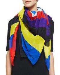 Bufanda de seda en multicolor
