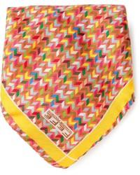 Bufanda de seda estampada amarilla de fe-fe