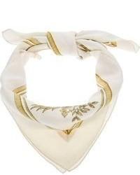 Bufanda de seda estampada blanca
