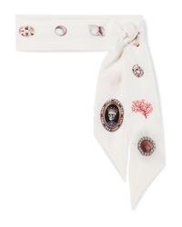 Bufanda de seda estampada blanca de Alexander McQueen