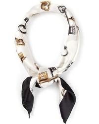 Bufanda de seda estampada blanca de Dolce & Gabbana