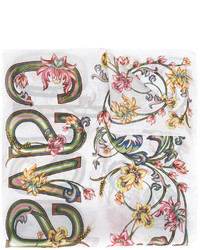 Bufanda de seda estampada blanca de Roberto Cavalli