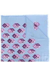Bufanda de seda estampada celeste de Gucci