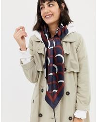 Bufanda de seda estampada en multicolor de ASOS DESIGN