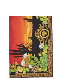 Bufanda de seda estampada en multicolor de Versace