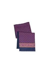 Bufanda de seda estampada en violeta