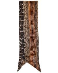 Bufanda de seda estampada marrón