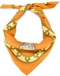 Bufanda de seda estampada naranja