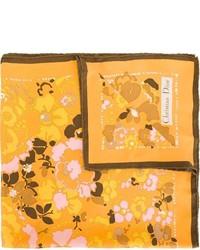 Bufanda de Seda Estampada Naranja de Christian Dior