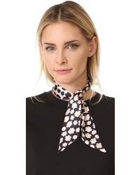 Bufanda de seda estampada negra de Kate Spade