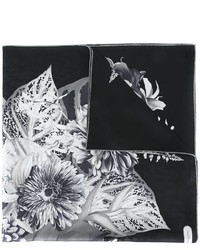 Bufanda de seda estampada negra de Salvatore Ferragamo