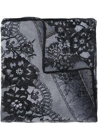 Bufanda de seda estampada negra de Ungaro