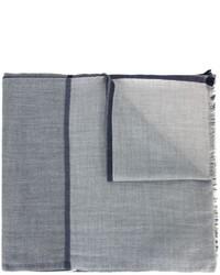 Bufanda de seda gris de Brunello Cucinelli