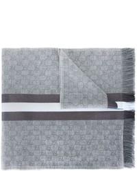 Bufanda de seda gris de Gucci
