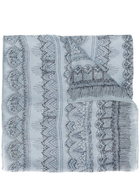 Bufanda de seda gris de Valentino