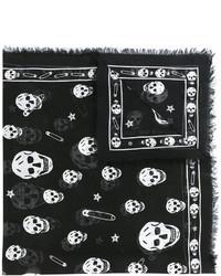 Bufanda de Seda Negra de Alexander McQueen