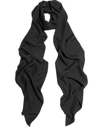 Bufanda de seda negra de Lanvin