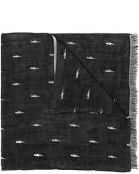 Bufanda de seda negra de Neil Barrett