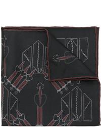 Bufanda de seda negra de Valentino