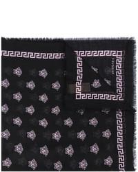 Bufanda de seda negra de Versace