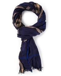 Bufanda de tartán azul marino de Burberry