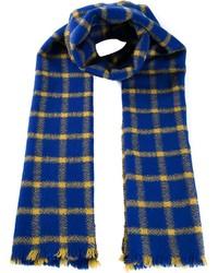 Bufanda de tartán azul de Marni
