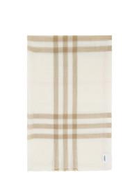 Bufanda de tartán blanca