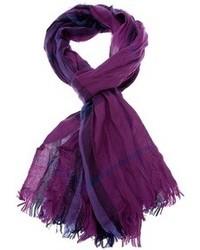 Bufanda de tartán en violeta