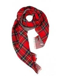 Bufanda de tartán roja