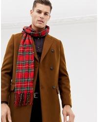 Bufanda de tartán roja de Burton Menswear