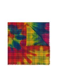 Bufanda efecto teñido anudado en multicolor