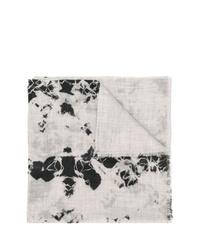 Bufanda efecto teñido anudado gris de Suzusan