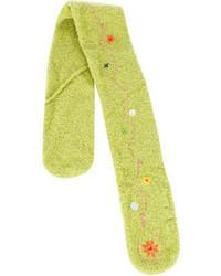 Bufanda en amarillo verdoso