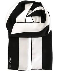 Bufanda en blanco y negro