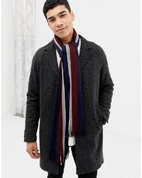 Bufanda en blanco y rojo y azul marino de Burton Menswear