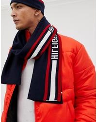 Bufanda en blanco y rojo y azul marino de Tommy Hilfiger