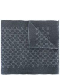 Bufanda en gris oscuro de Gucci