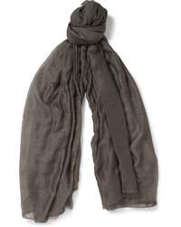 Bufanda en gris oscuro de Rick Owens