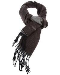 Bufanda en marrón oscuro de Emporio Armani