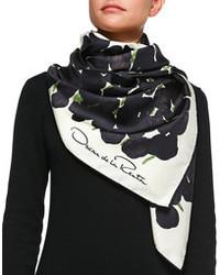 Bufanda en negro y blanco