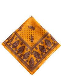 Bufanda estampada amarilla