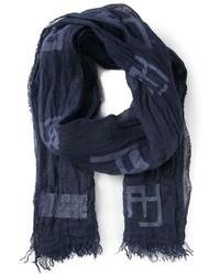 Bufanda estampada azul marino de Armani Jeans