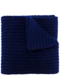 Bufanda estampada azul marino de Marni