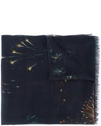 Bufanda estampada azul marino de Valentino