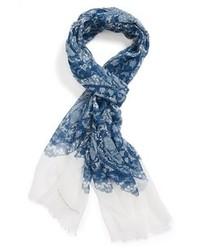 Bufanda estampada azul